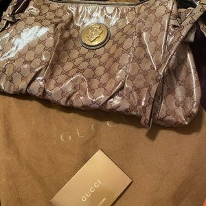 GUCCI HYSTERIA LARGE CRYSTAL COATED CANVAS CLUTCH!